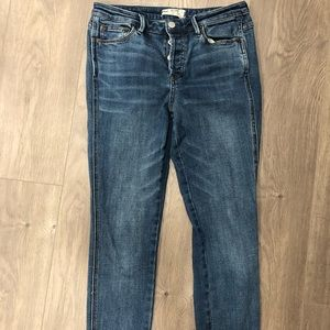 Free people cropped skinny jeans size 28